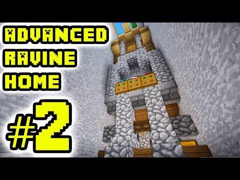 Minecraft Tutorial: Advanced Ravine House Build 2 (Survival)