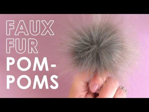 How to Make Faux Fur Pom-Poms | DIY Craft for Everyone