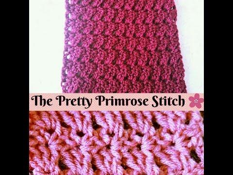 Easy Crochet - How to make The Primrose Stitch - Scarf ( Step by Step Tutorial )  ♥ Pearl Gomez  ♥