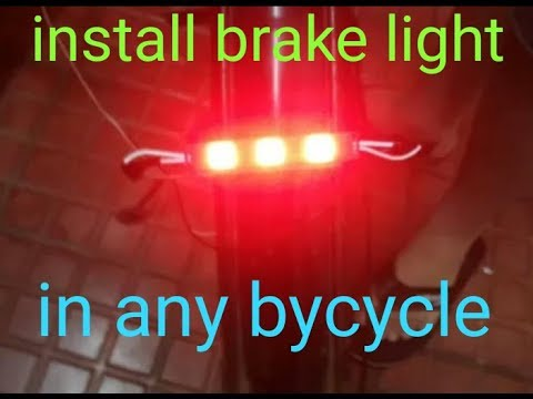 how to install brake light in any cycles of cost of 20 rupees only
