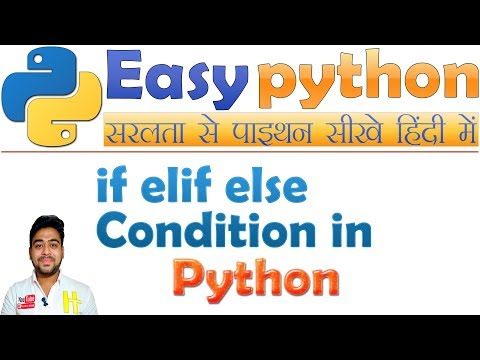 if elif else STATEMENTS CONDITION in Python | Basic Python Tutorial Hindi #6