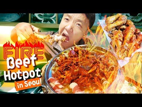 Xxx Mp4 FIRE Beef Hotpot Amp BEST SPICY FRIED CHICKEN In Seoul South Korea 3gp Sex