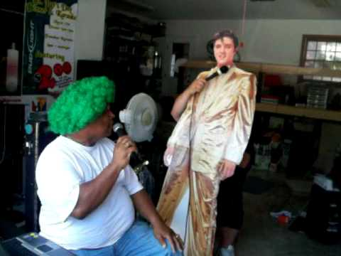 Dare To Be Elvis in a Green Clown Wig