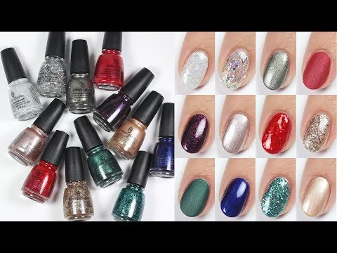 China Glaze Holiday 2017 Review & Live Swatches!