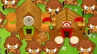 Bloons Tower Defense 6 - Round 1-100 with Ice + Village +