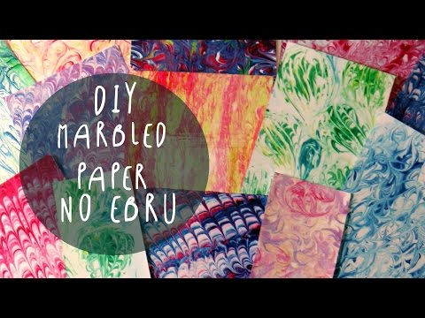 How to make marbled paper with SHAVING CREAM (NO EBRU) by ART Tv
