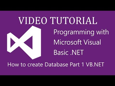 How to make databases in vb.net 2010 - Part 1
