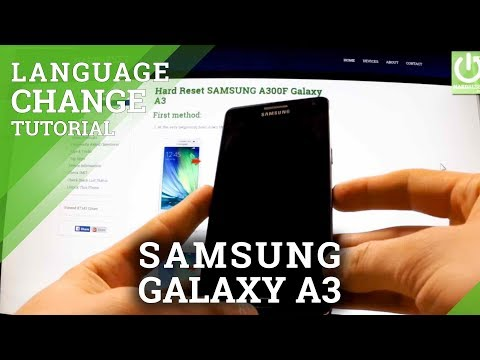 Languages Settings in SAMSUNG A300F Galaxy A3  - How to Change Language