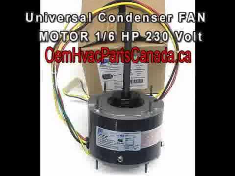 Canada GE Blower Motor 3727 - 1/6HP 208/230V 1075