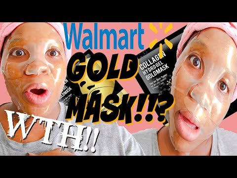 I Tried the FIVE dollar GOLD FACE MASK From Walmart! 24karat Gold Face Mask Skincare