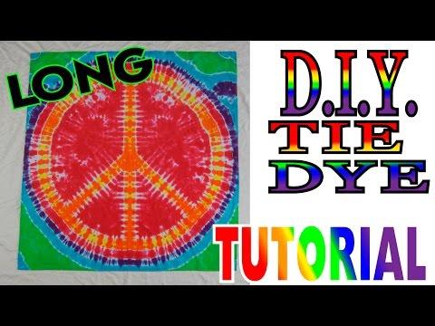 DIY Tie Dye Peace Sign Tapestry [Full Tutorial]