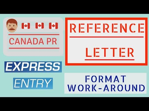 Reference letter for job experiences (Expess Entry Canada 2018)