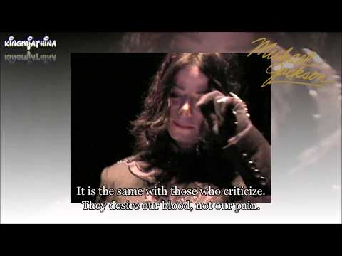 Michael Jackson Letter to People Magazine Don't Judge English subtitles