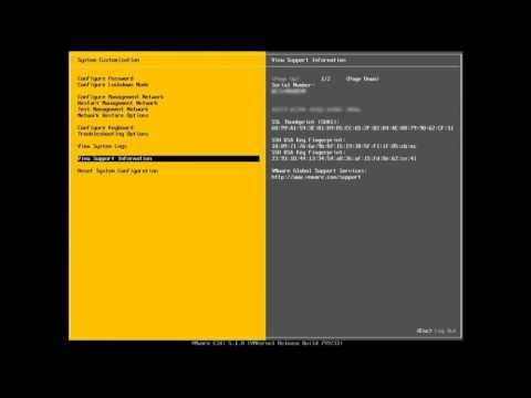 VMware ESXi Direct Console User Interface (DCUI) Overview (vSOM)