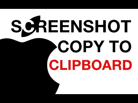 How to Copy a Screenshot to Clipboard on a Mac