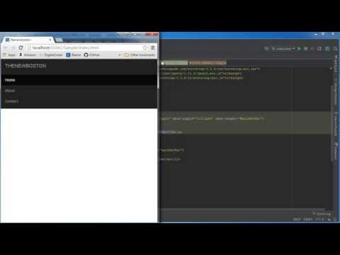 Bootstrap Tutorial for Beginners - 8 - Navbar Toggle Button