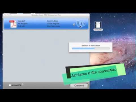 Conversione PDF in word, excel, powerpoint o testo su MAC