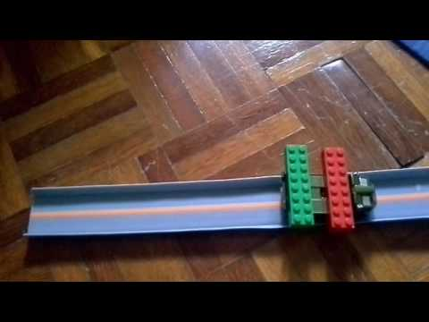 Auto Magnetic Powered Hot Wheels Car on Track