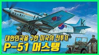 끝없이 진화되어 대한민국을 구원한 전투기 - P-51 Mustang