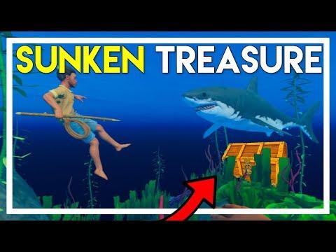 Finding Sunken Treasure & Scuba Diving Equipment! (Raft Survival Game #10)