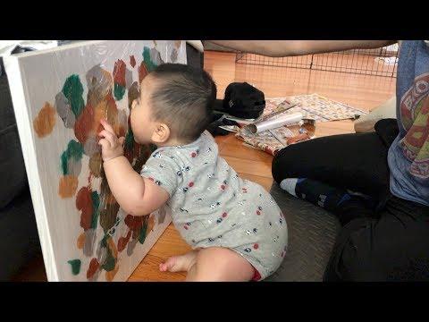 DIY BABY CANVAS ART [February 28, 2018]