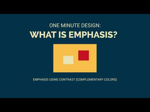 One Minute Design: What is Emphasis in Graphic Design?