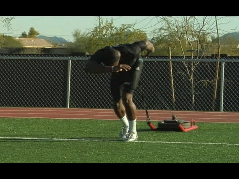 How to Perform WR Demaryius Thomas' Weighted Sled Drives