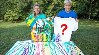 3 COLOR TIE DYE CHALLENGE WITH MY SISTER!!