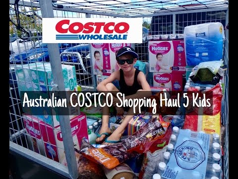 Australian COSTCO Grocery Shopping Haul with 5 Kids- BULK BUYING