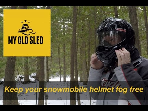 How to keep your visor from fogging up on the trail.