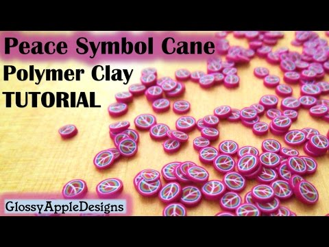 Polymer Clay Peace Symbol/Sign Cane Tutorial