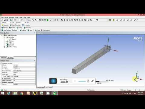 Plotting LOAD - DEFLECTION graph using ANSYS WORKBENCH 15 TUTORIAL