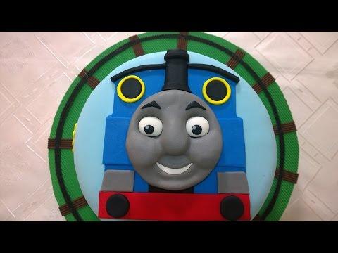 Torta Tren Thomas, Paso a paso (thomas train cake)