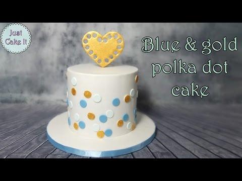 Gold heart cake tutorial / Tort ze złotym sercem tutorial