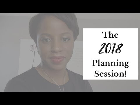 The 2018 Planning Session - Have A Financially Amazing Year!