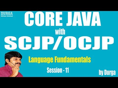 Core Java with OCJP/SCJP: Language Fundamentals Part-11 || Types of Variables :part-2