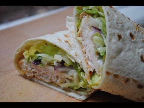 STICKY BBQ CHICKEN WRAP - Student Recipe