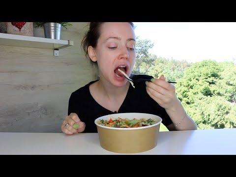 ASMR Whisper Eating Sounds | Crunchy Pasta Salad