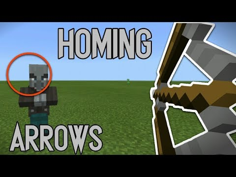 How to make HOMING ARROWS ( Heat Seeking ) in MCPE 1.2!!