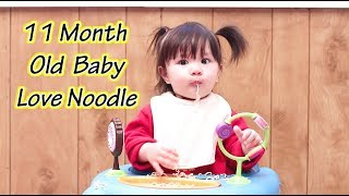 Our Cute 11 Month Old Baby Dee Love Noodle