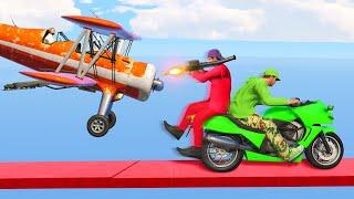 MILE HIGH BIKES vs. KAMIKAZE PLANES! (GTA 5 Funny Moments)