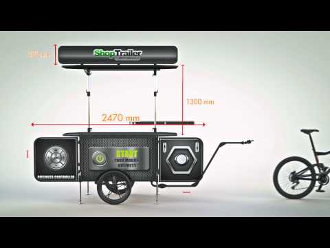 Bicycle street vending cart Assembly