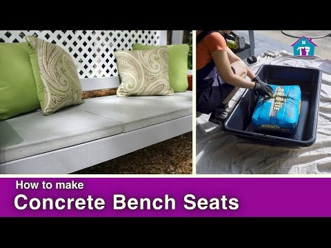 How to Make Concrete Bench Seats