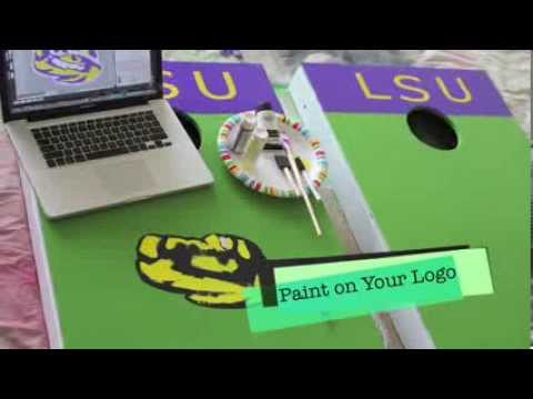 DIY Corn Hole Tailgating Game Using Scotch Colors and Patterns Duct Tape (Tailgate party)