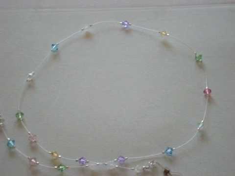 Swarovski Crystallized eyeglasses holder  necklace multi-colour