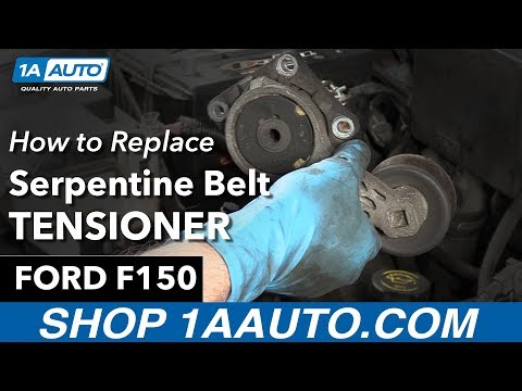 How to Remove Install Serpentine Belt Tensioner 98 Ford F150