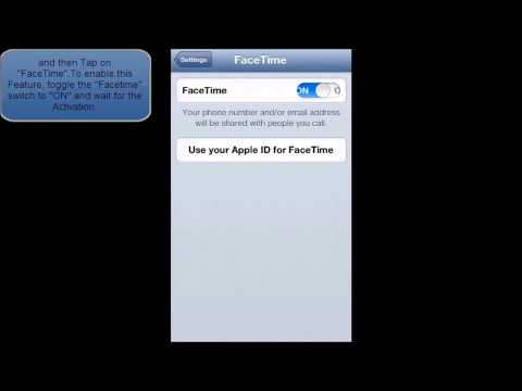 HOW TO ENABLE OR DISABLE FACETIME IN IOS 6 (IPHONE 5)