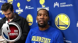 Kevin Durant on Warriors: