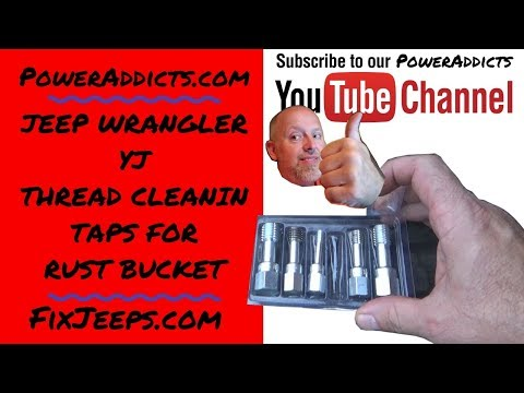 Thread Cleaning Taps - Clean the junk out of the threads for an easier re-assembly