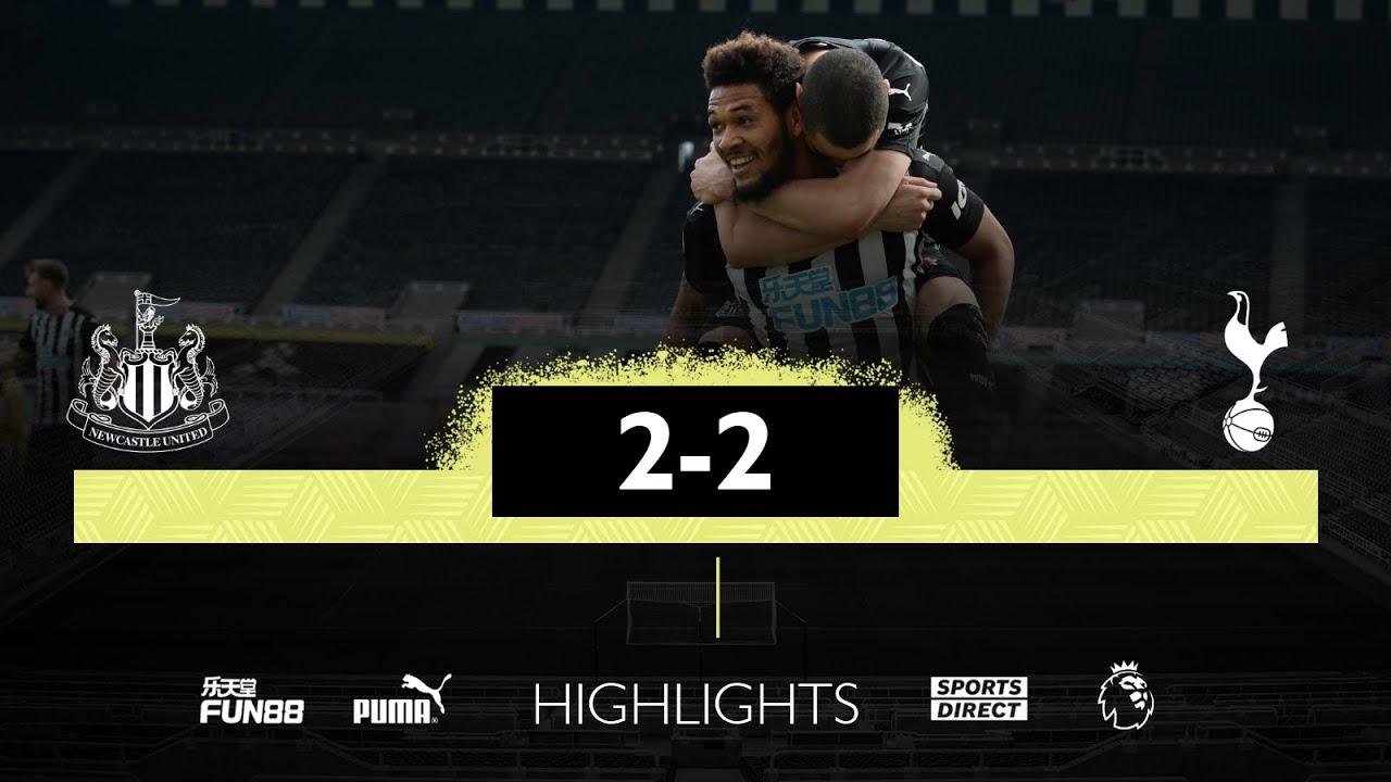 Newcastle United 2 Tottenham Hotspur 2 | Premier League Highlights